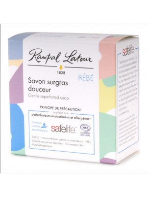 Savon Surgras Douceur Bio - Pour les Bébés 100 g - Rampal Latour