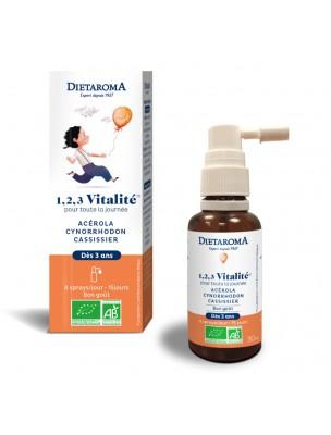 1, 2, 3 Vitalité Bio - Vitalité des Enfants 30 ml - Dietaroma