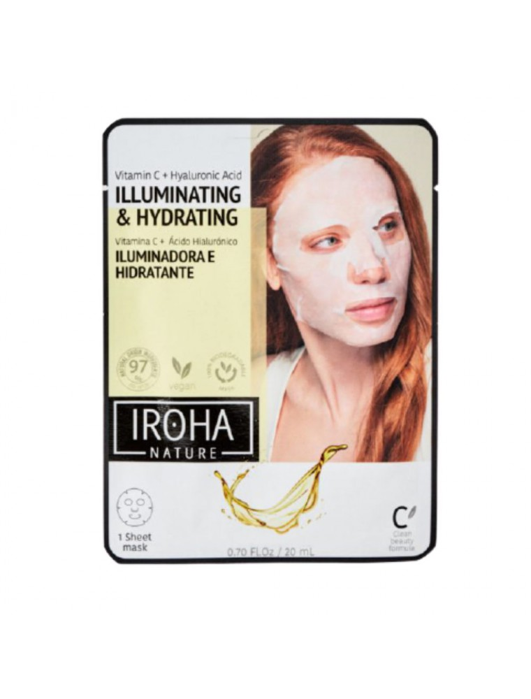 Masque Visage en Tissu - Illuminateur 1 soin - Iroha Nature