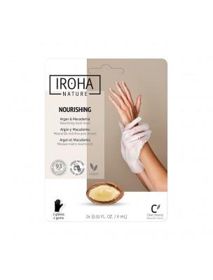 Image de Masque Gants Mains - Nourrissant 1 soin - Iroha Nature depuis Soins des mains pour une peau hydratée naturellement