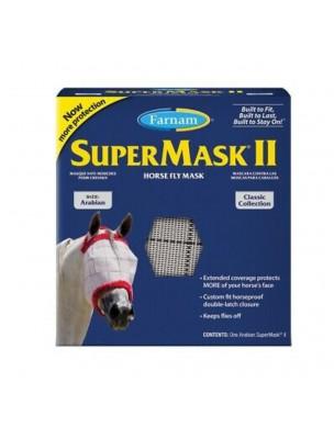Supermask Arab II - Masque anti-insectes sans oreilles pour Chevaux - Farnam
