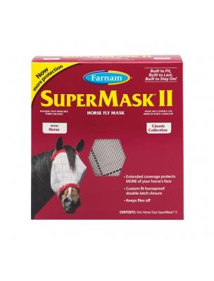 Supermask Horse II - Masque anti-insectes sans oreilles pour Chevaux - Farnam