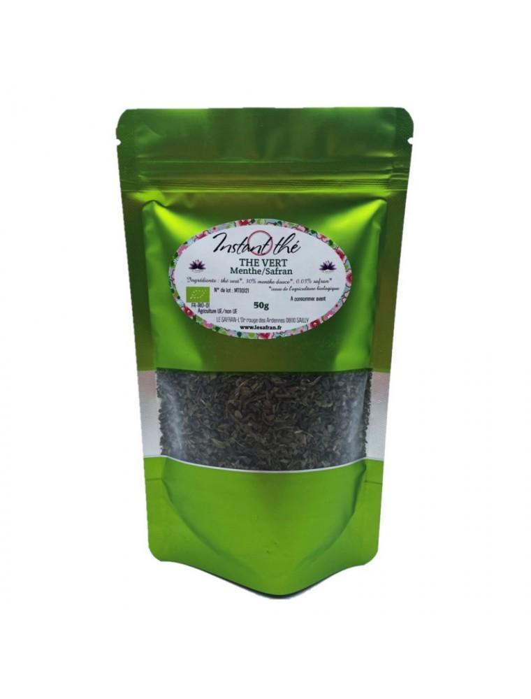 Thé Menthe-Safran Bio - Thé Vert ardennais 50 grammes - Le Safran