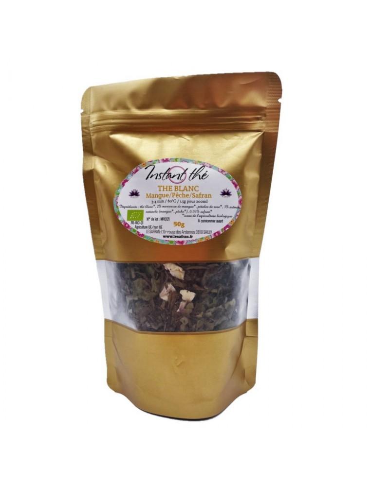 Thé Mangue-Pêche-Safran Bio - Thé blanc ardennais 50 grammes - Le Safran