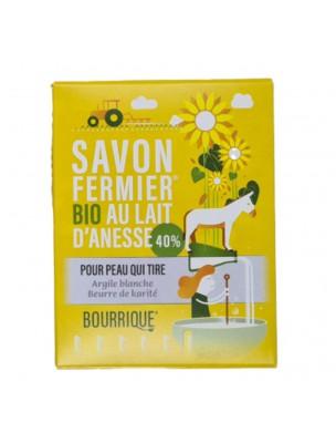 Savon Argile blanche au lait d'ânesse Bio - Peaux sèches 100g - Paysane
