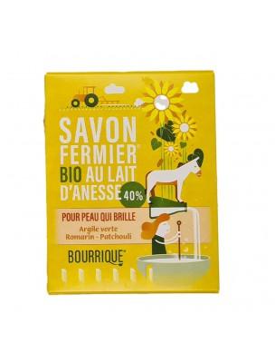 Savon Argile verte au lait d'ânesse Bio - Peaux Grasses 100g - Paysane