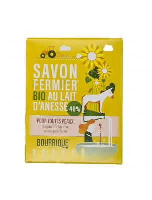 Savon à barbe au lait d'ânesse frais et bio - Peaux Sensibles 100 grammes - Paysane