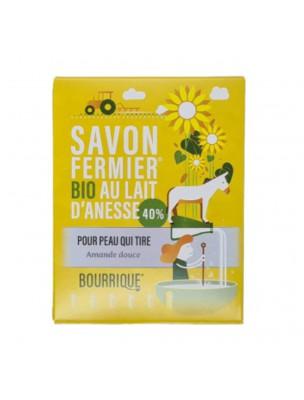 Savon Amande douce au lait d'ânesse Bio - Peaux Sèches et Irritées 100g - Paysane