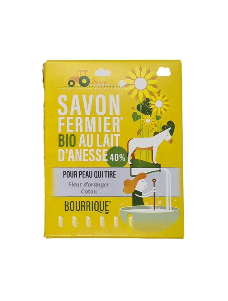 Savon Fleur d'Oranger et Coton au lait d'ânesse Bio - Peaux Sensibles 100g - Paysane
