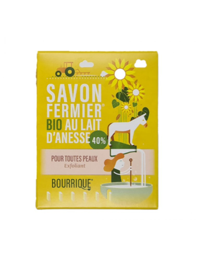 Savon Exfoliant au lait d'ânesse Bio - Tout Type de Peau 100g - Paysane
