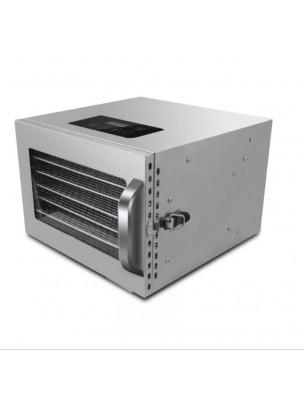 Déshydrateur Inox 400 W 6 grilles 28x30 cm à commande digitale