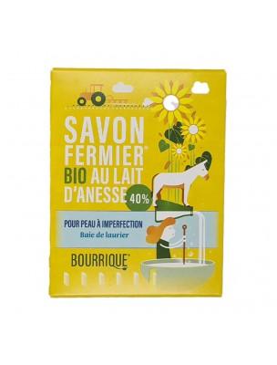 Savon Baie de Laurier au lait d'ânesse Bio - Peaux à imperfections 100g - Paysane