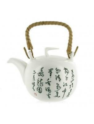 Théière en Porcelaine - Caractères Chinois 1 Litre