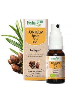 ToniGEM GC16 Bio - Tonus et Vitalité  Spray buccal de 10 ml - Herbalgem