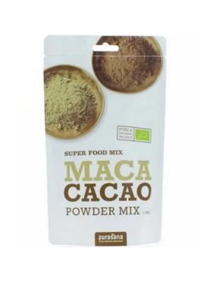 Maca Cacao Bio - Tonus et Vitalité SuperFoods 200 g - Purasana