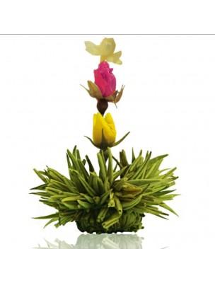 Creano Fraise Fleur de Thé - Thé vert Jasmin, Rose et Arôme Fraise