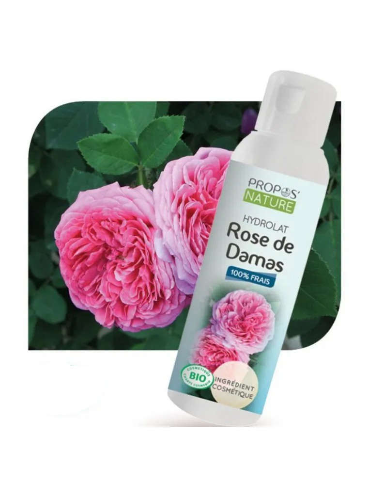 Rose de Damas Bio - Hydrolat de Rosa damascena 100 ml - Propos Nature