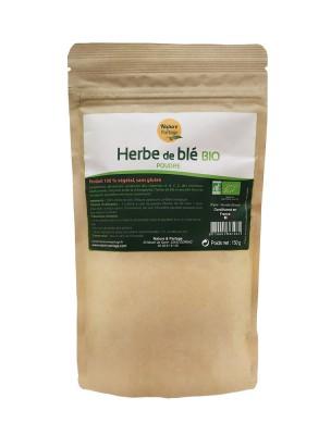 Herbe de blé Bio - Poudre de Triticum aestivum 150 g - Nature et Partage