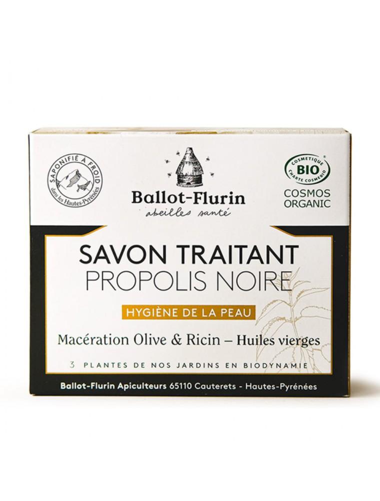 Savon Propolis Noire Bio - Hygiène renforcée 100 g - Ballot-Flurin