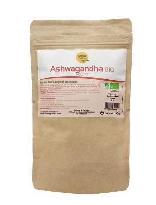 Ashwagandha Bio - Racine en poudre 150g - Withania somnifera - Nature et Partage