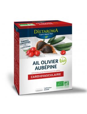 Ail Olivier Aubépine Bio - Système Circulatoire 60 gélules - Dietaroma
