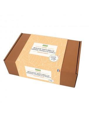 Image de Coffret Cosmétique Maison Bougie Naturelle Orange, Cannelle et Vanille - Kit complet - Propos Nature depuis Cadeaux naturels pour les femmes