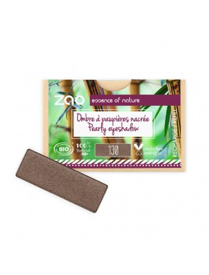 Recharge Ombre à paupières rectangle Bio - Marron Intense 130 3 grammes - Zao Make-up