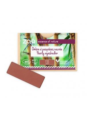 Recharge Ombre à paupières rectangle Bio - Terre de Sienne 131 3 grammes - Zao Make-up