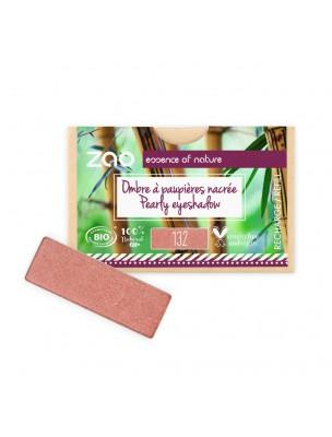 Recharge Ombre à paupières rectangle Bio - Rose Pêche 132 3 grammes - Zao Make-up
