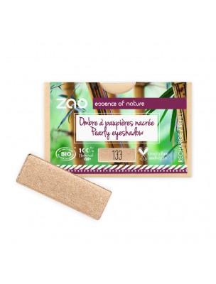 Recharge Ombre à paupières rectangle Bio - Goldy 133 3 grammes - Zao Make-up
