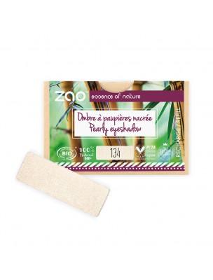 Recharge Ombre à paupières rectangle Bio - Perle Doré 134 3 grammes - Zao Make-up