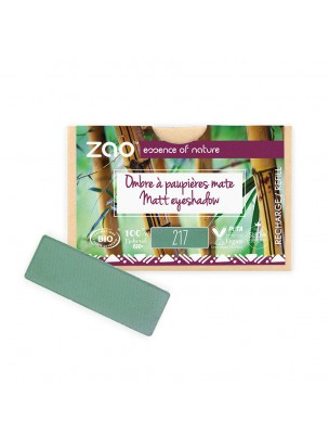 Recharge Ombre à paupières rectangle Bio - Vert Eucalyptus 217 3 grammes - Zao Make-up