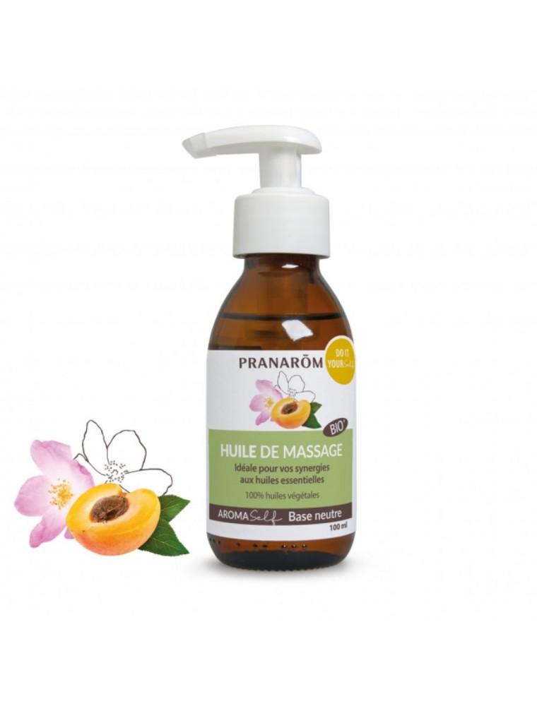 Huile de massage neutre naturelle Bio Aromaself - Base neutre 100 ml - Pranarôm
