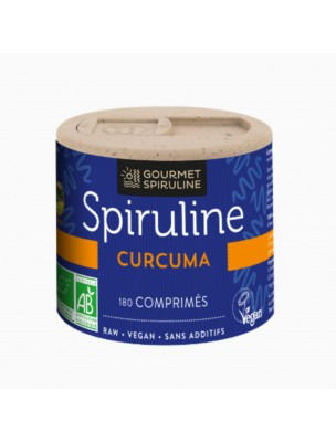 Spiruline Curcuma Bio - Vitalité 180 comprimés - Gourmet Spiruline