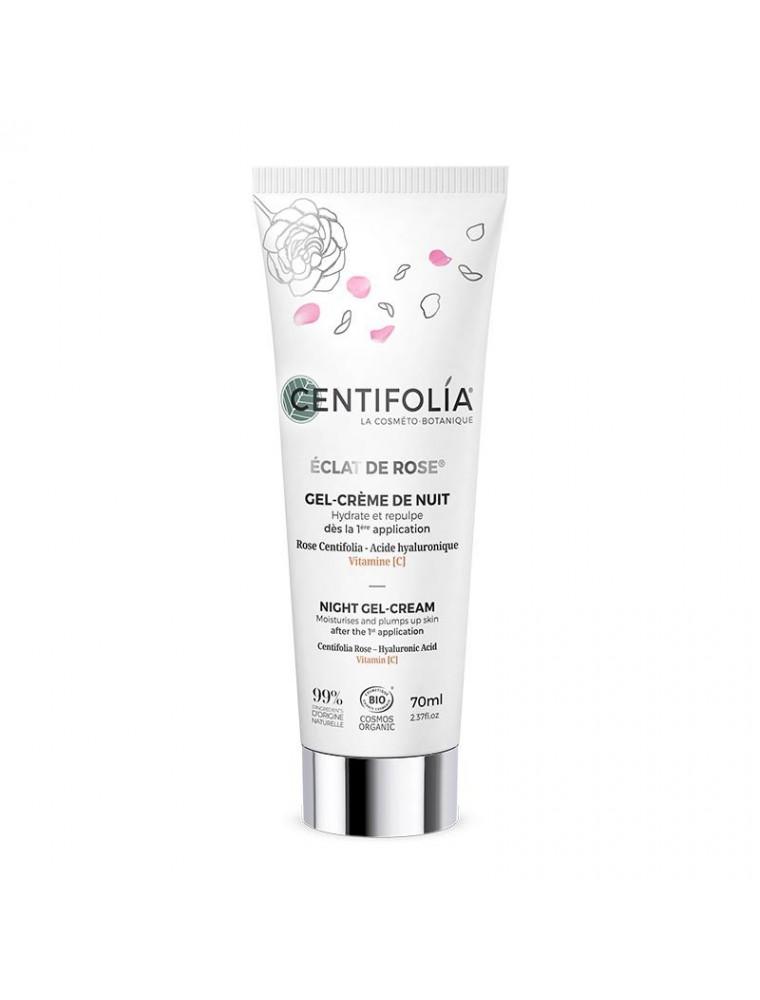 Gel-Crème de Nuit Eclat de Rose Bio - Soin du visage 70 ml - Centifolia