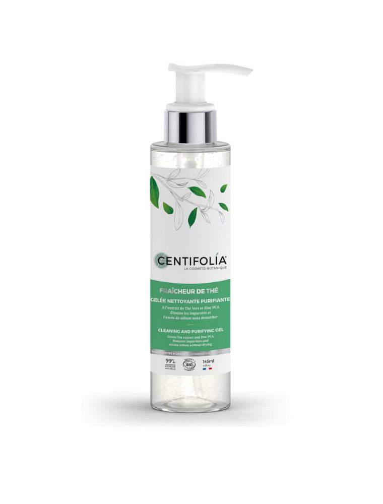 Gelée Nettoyante Purifiante Fraîcheur de Thé Bio - Soin du visage 145ml - Centifolia