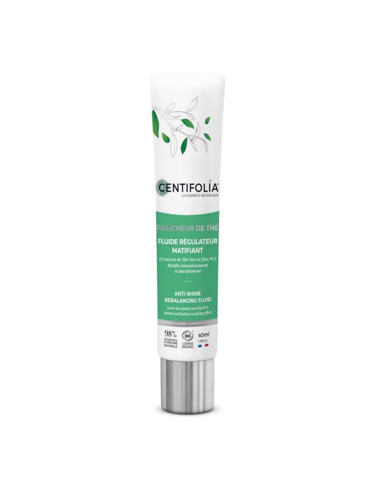 Fluide Régulateur Matifiant Fraîcheur de Thé Bio - Soin du visage 40 ml - Centifolia