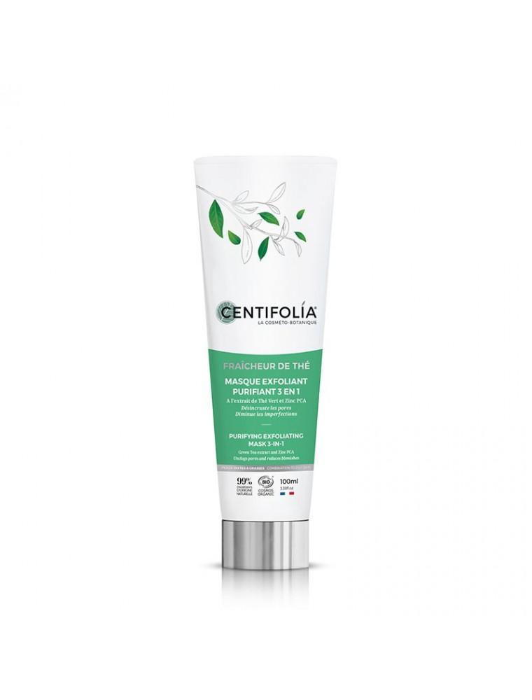 Masque Exfoliant Purifiant 3 en 1 Fraîcheur de Thé Bio - Soin du visage 100 ml - Centifolia