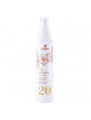 Lait Solaire SPF 20 Bio - Soin du visage et du corps 100 ml - UV Bio