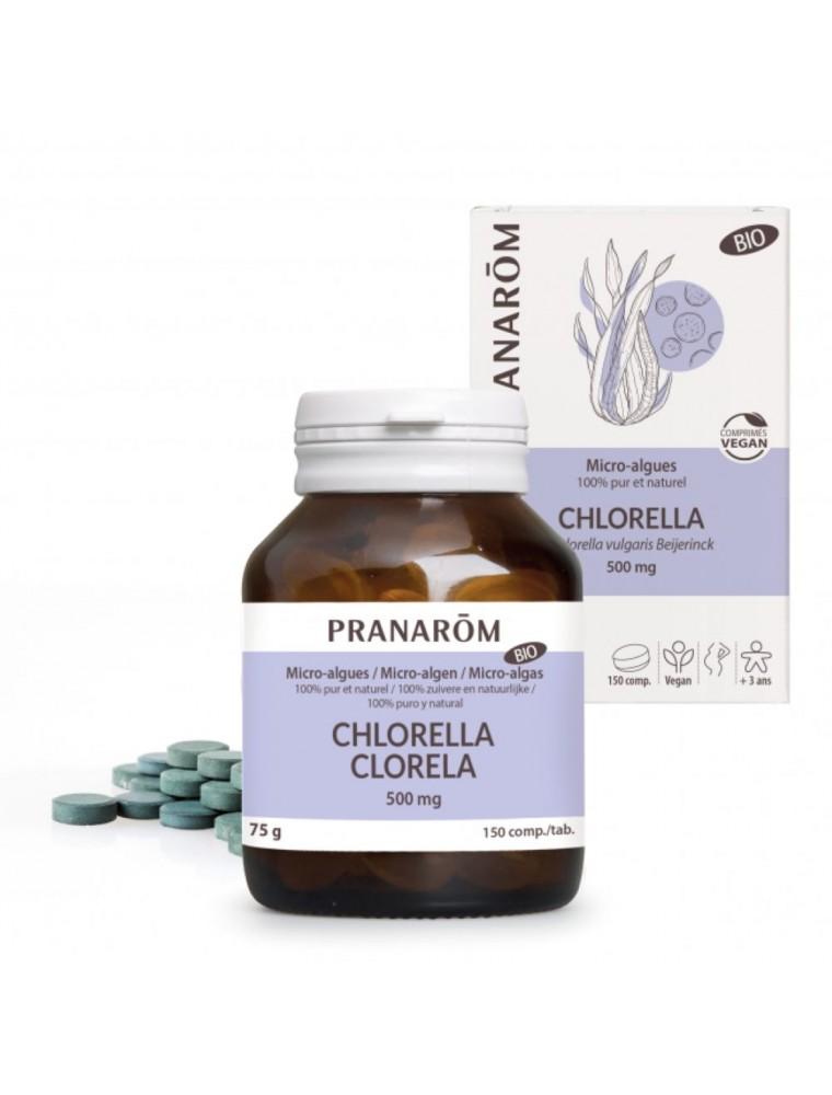 Chlorella Bio - Vitalité et dépuratif 150 comprimés - Pranarôm