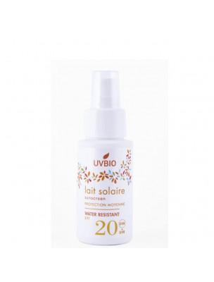 Lait Solaire SPF 20 Bio - Soin du visage et du corps 50 ml - UV Bio