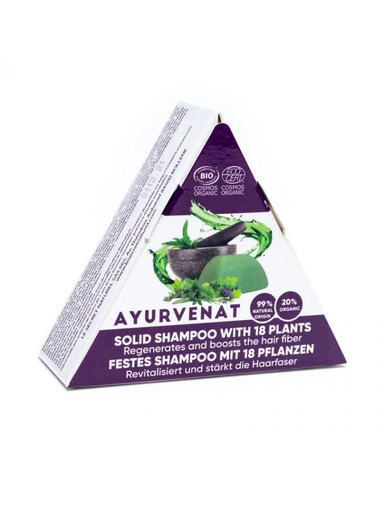 Shampooing Solide ayurvédique aux 18 plantes actives Bio - Ayurvenat 50 g - Le Secret Naturel