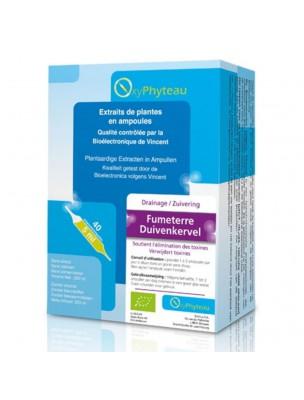 Fumeterre Bio - Détoxification 40 ampoules - Oxyphyteau