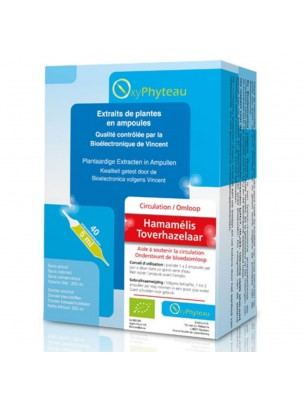 Hamamélis Bio - Circulation 40 ampoules - Oxyphyteau
