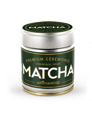 Matcha de Cérémonie Premium Bio - Poudre de Thé vert Japonais 30 g - Aromandise