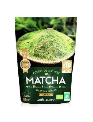 Matcha Bio - Poudre de Thé vert Japonais 50 g - Aromandise
