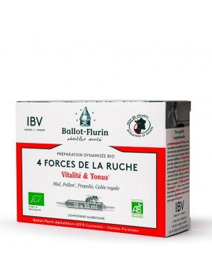 Préparation Dynamisée 4 Forces de la Ruche Bio - Vitalité 10 ampoules de 10 ml - Ballot-Flurin