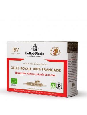 Préparation Dynamisée Gelée Royale Française Bio - Revitalisant 10 ampoules de 10 ml - Ballot-Flurin