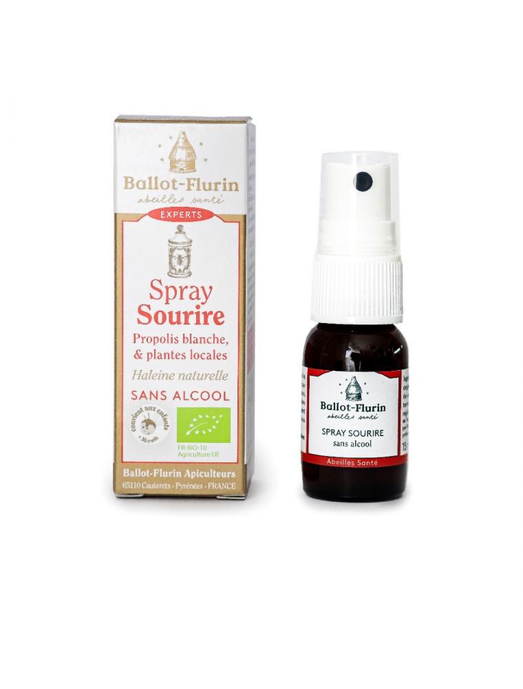 Spray Sourire Bio - Rafraîchit l'haleine et éclaircit la voix - Ballot-Flurin
