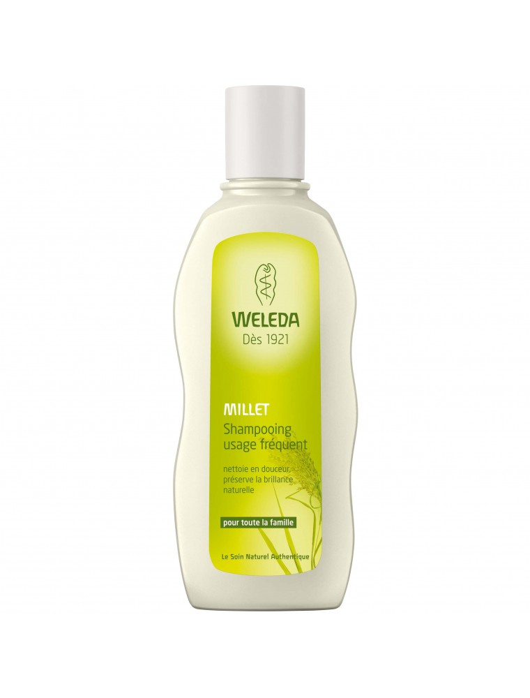 Shampoing Doux au millet - Usage fréquent 190 ml - Weleda